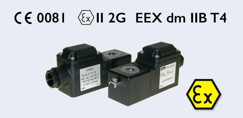 Marquage ATEX d'une bobine et logo ATEX